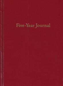 Red Five-Year Journal