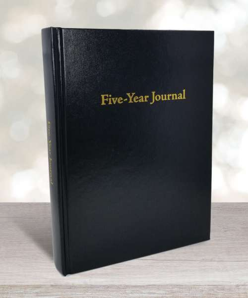 Five-year journal black