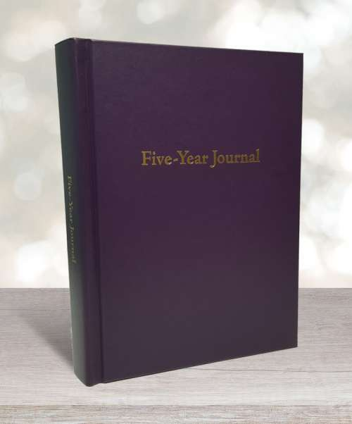 Five-year journal blackberry purple