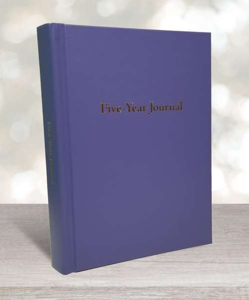 Five-year journal periwinkle blue