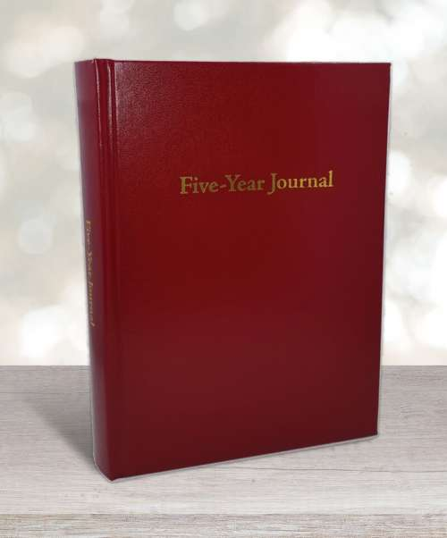Five-year journal red