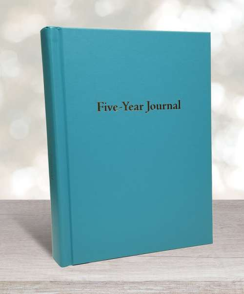 Five-year journal turquoise