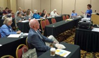 Patricia speaking at the Association of Personal Historians international conference in Sacramento