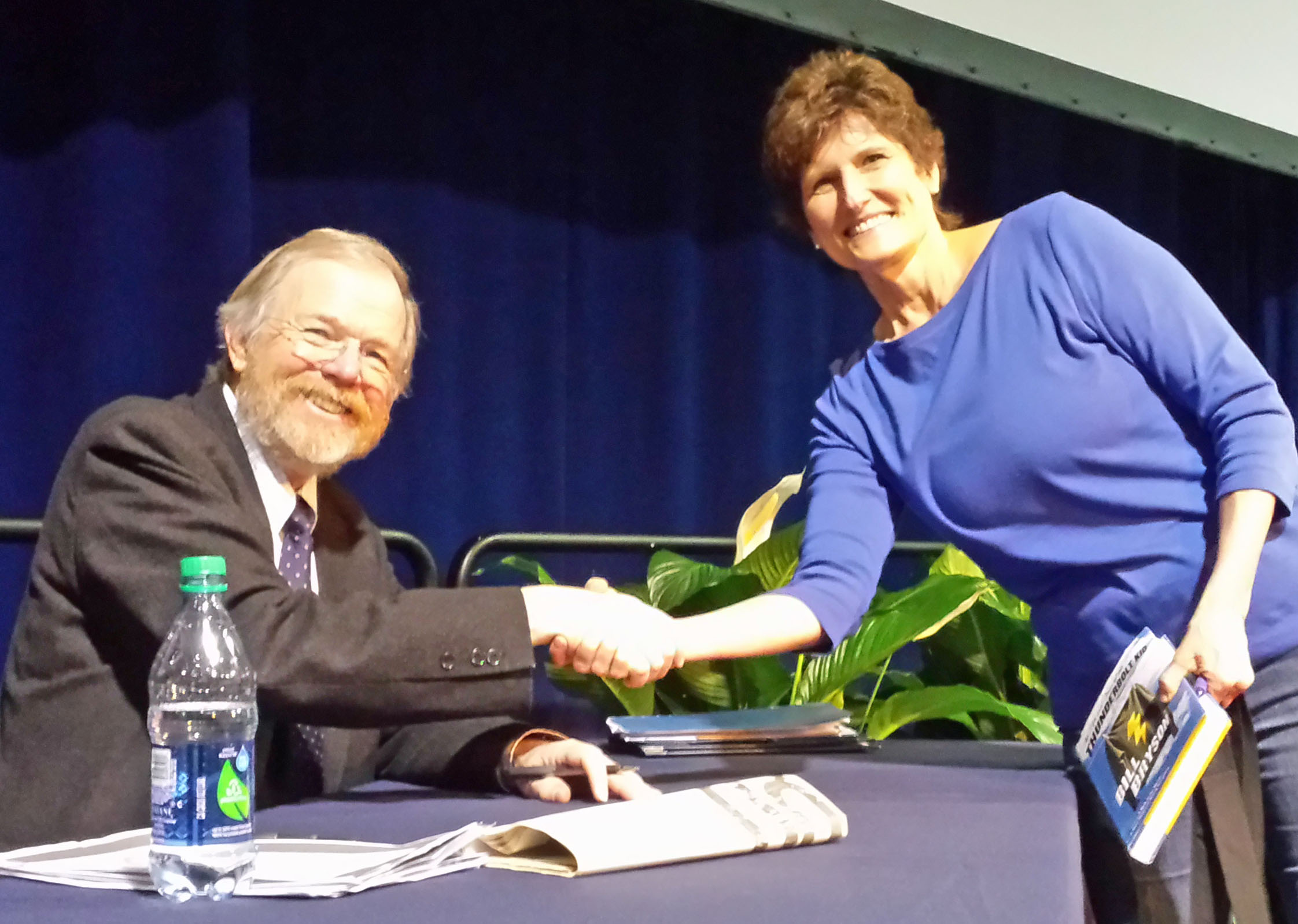 Author Bill Bryson keeps the crowd laughing