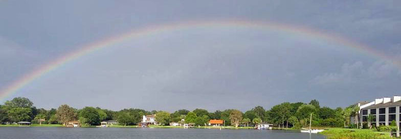 Rainbow Over Lake Fairview