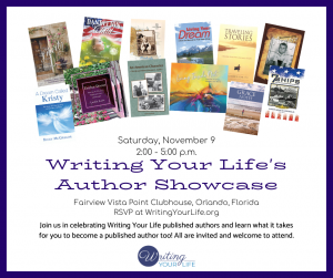 Writing Your Life's Author Showcase @ Fairview Vista Clubhouse