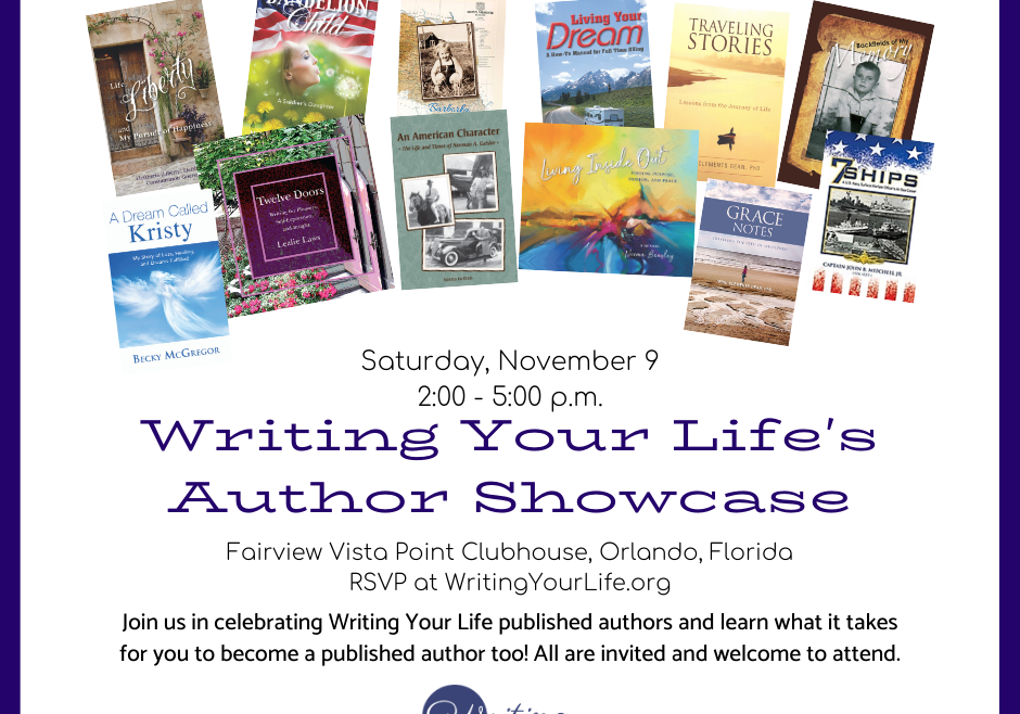 Writing Your Life's Author Showcase
